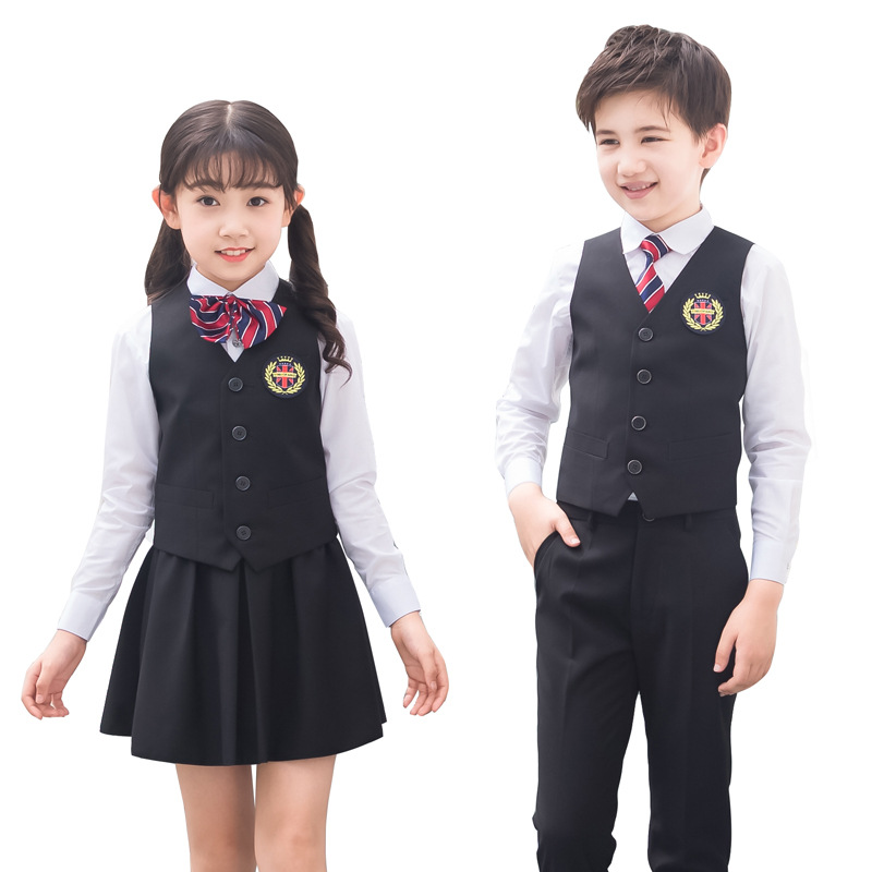 Flowers Boys Girls Formal Suit Wedding Birthday Dress Gentleman Kids Waistcoat Shirt Pant/Dress Bowtie 4Pcs Children Costume F67
