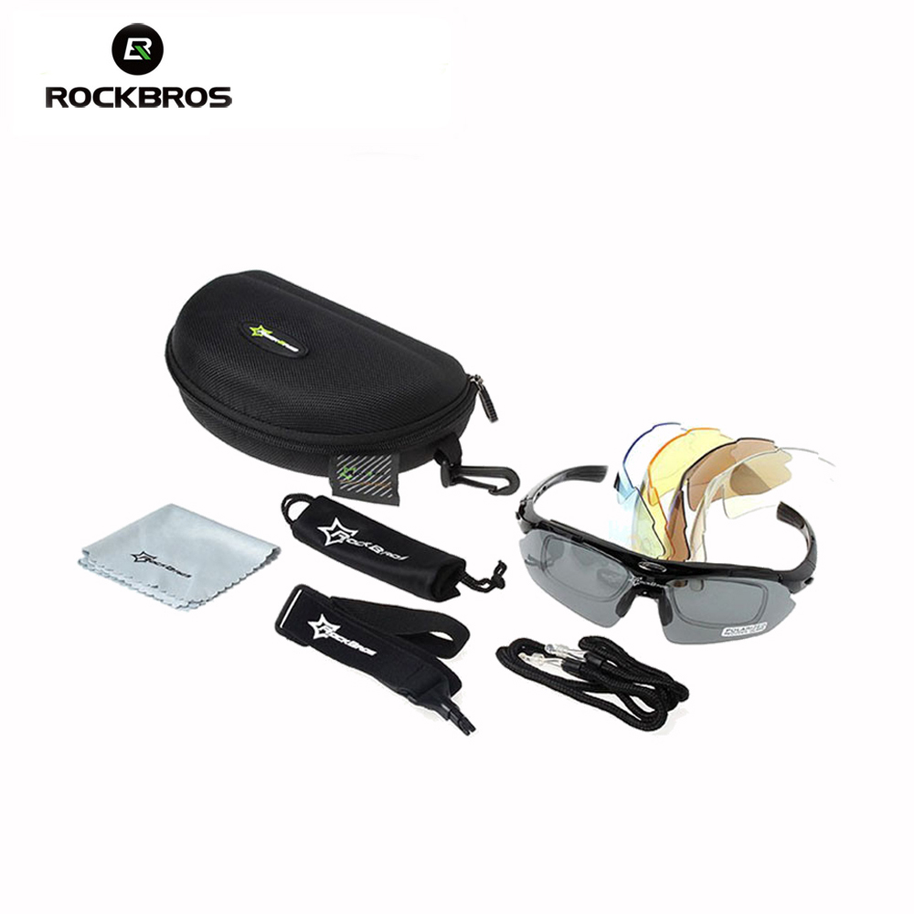 Hot! RockBros Polarized Cycling Sun Glasses Outdoor Sports Bicycle Glasses Bike Sunglasses TR90 Goggles Eyewear 5 Lens 1000 gurensye brand new design big frame colourful lens sun glasses outdoor sports cycling bike goggles motorcycle bicycle sunglasses