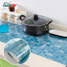 ФОТО  Kitchen Self Adhesive Wall Stickers Home Decor Waterproof Mosaic Tile PVC Wallpaper Bathroom Glass Decorative Film Stickers
