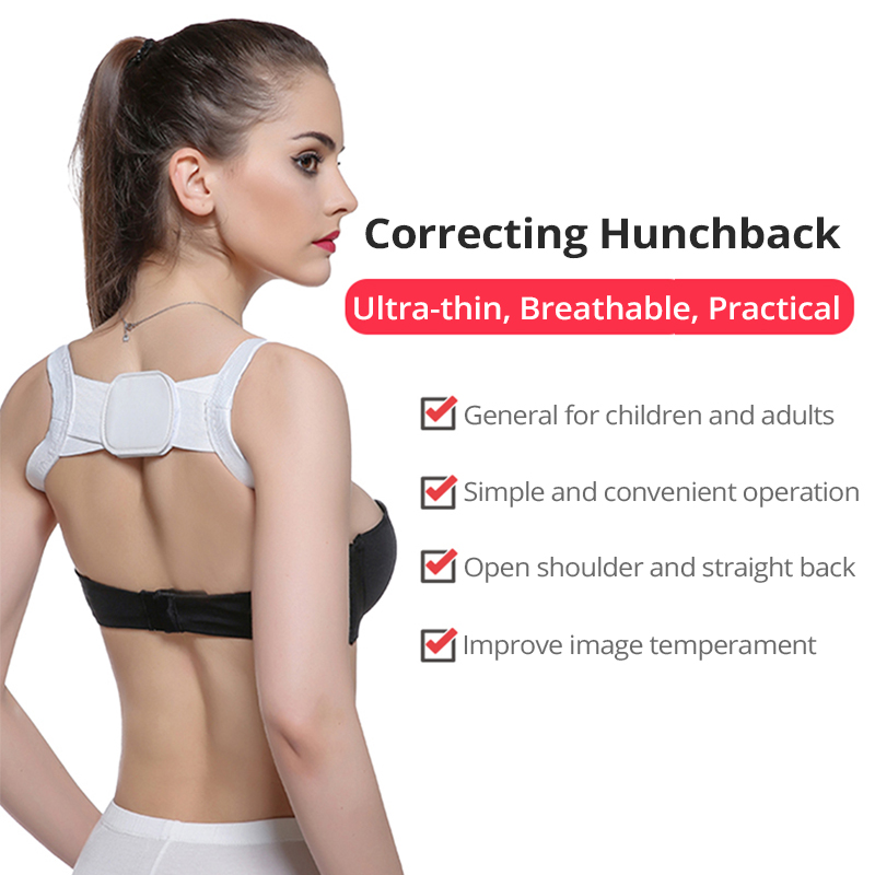 Image 5 - Back Posture Corrector Clavicle Back Support Correction Back Straight Shoulders Brace Strap with Velcro for Adult Chilren-in Braces & Supports from Beauty & Health
