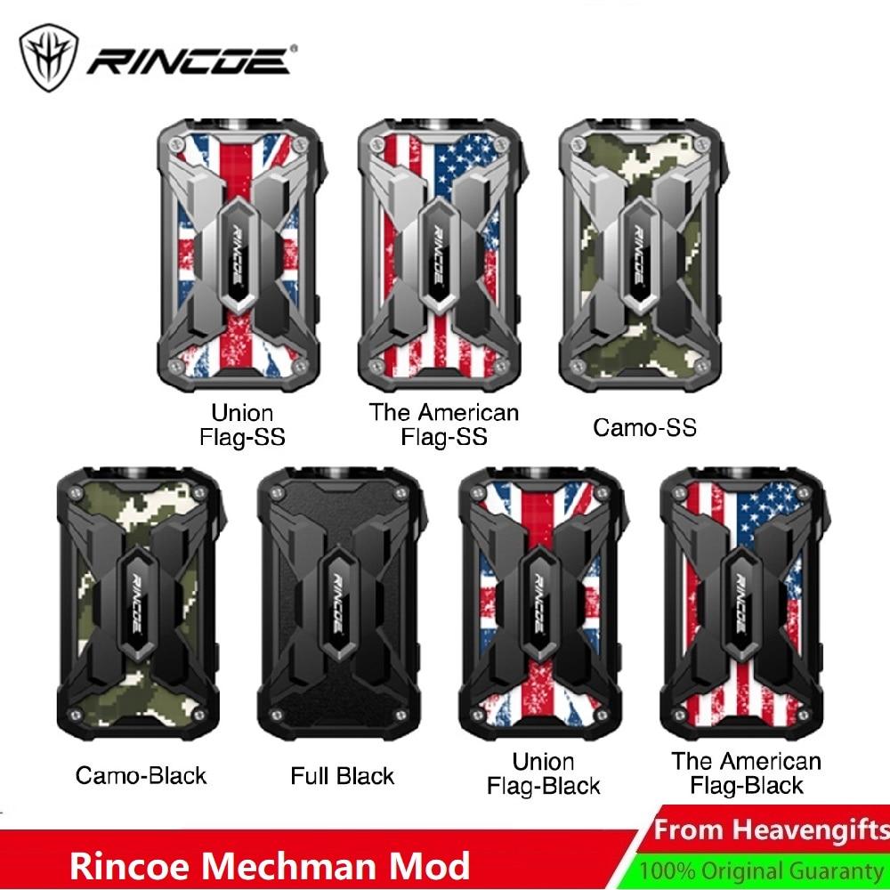 Heavengifts 228W Rincoe Mechman TC Box Mod No 18650 Battery MOD Box Replaceable Panel Sticker Vs