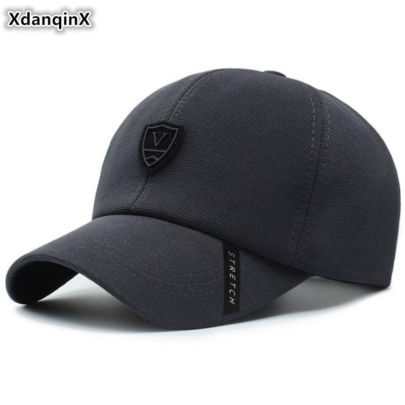 XdanqinX Adjustable Size Men's Cotton Baseball Caps Snapback Cap 2019 New Fashion Tongue Cap Dad's Brands Hats For Adult Men