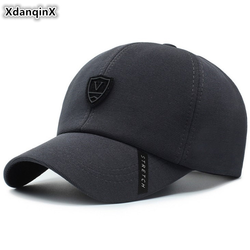 XdanqinX Adjustable Size Men's Cotton   Baseball     Caps   Snapback   Cap   2019 New Fashion Tongue   Cap   Dad's Brands Hats For Adult Men