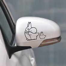 hot Totoro rear view mirror totoro reflective mirror car sticker totoro car stickers personalized for bmw benz audi vw