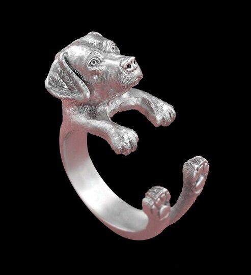 Купить кольцо регулируемое в ретро стиле для любителей животных 12