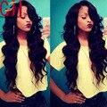 150D Класс 8А Необработанные Бразильский Полный Шнурок Человеческих Волос Парики, Кружева передние Парики Для Чернокожих Женщин Волна Виргинских Волос с Волосами Младенца