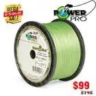 Power Pr0 8 Gevlochten Vislijn Lengte: 1350 m/1500yds, Diameter: 0.36mm 0.46mm, maat: 65 120lb Super VS PE gevlochten lijn
