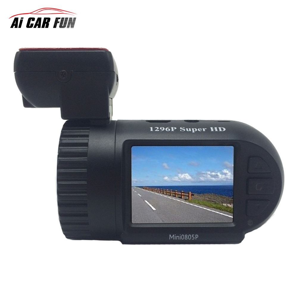 Mini 0805 Voiture DVR Caméra Dash Cam dash caméra Mstar 8328 P Puce Super FHD 1290 P Avec GPS Logger bilan