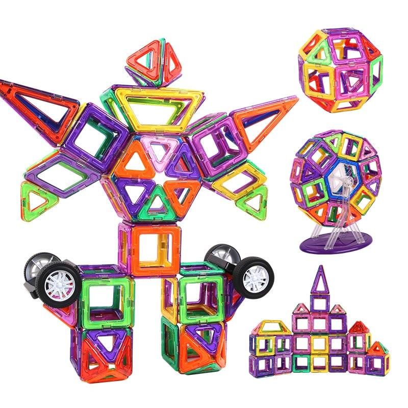 Kidsrun Regular Large Size Magnetic Designer Building Construction Toys Set Magnet Educational Toy For Children Kids Boys Girls