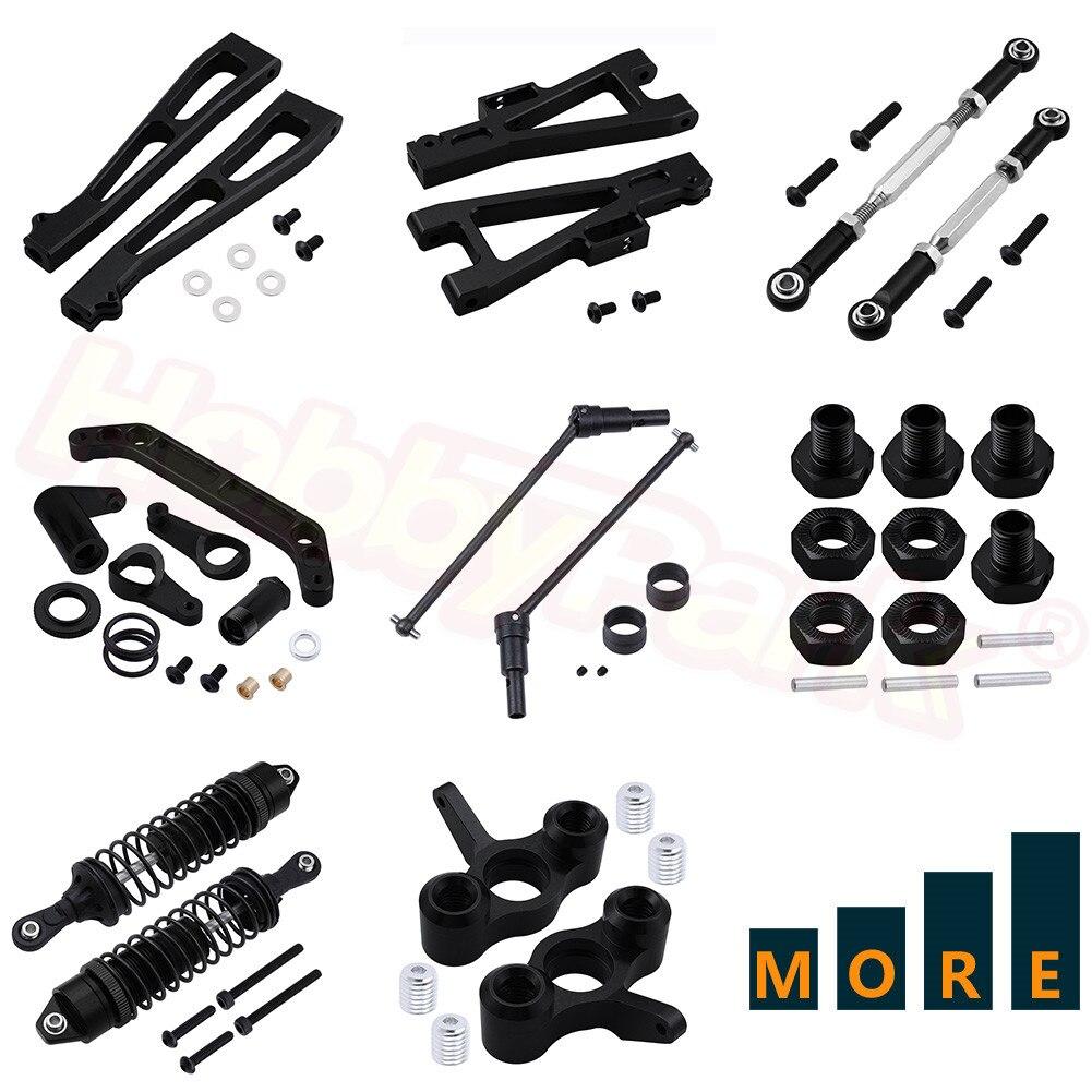 Metal Aluminum Parts For JLB Racing CHEETAH 1/10 Brushless RC Car Monster Truck Replacement Black