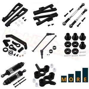 Metal Aluminum Parts for JLB Racing CHEETAH 1/10 Brushless RC Car Monster Truck Replacement Black(China)