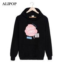 ALIPOP Kpop Koreaanse TWEEMAAL Land Twiceland Album EEN TWEEMAAL IN Een MILJOEN Katoen Hoodies Hoed Kleding Truien Sweatshirt PT377