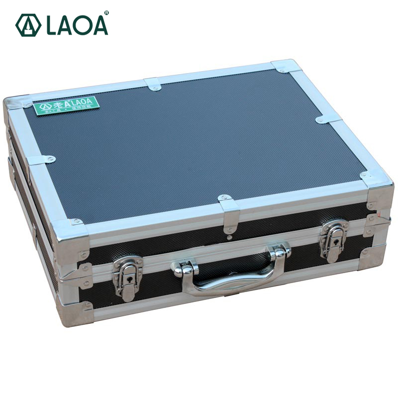 LAOA Thicken Aluminum Portable Hardware Tool Box Tool Kit Toolbox Case To Store Screwdrivers Pliers laoa colorful folded tool box work box foldable toolbox medicine cabinet manicure kit workbin for storage