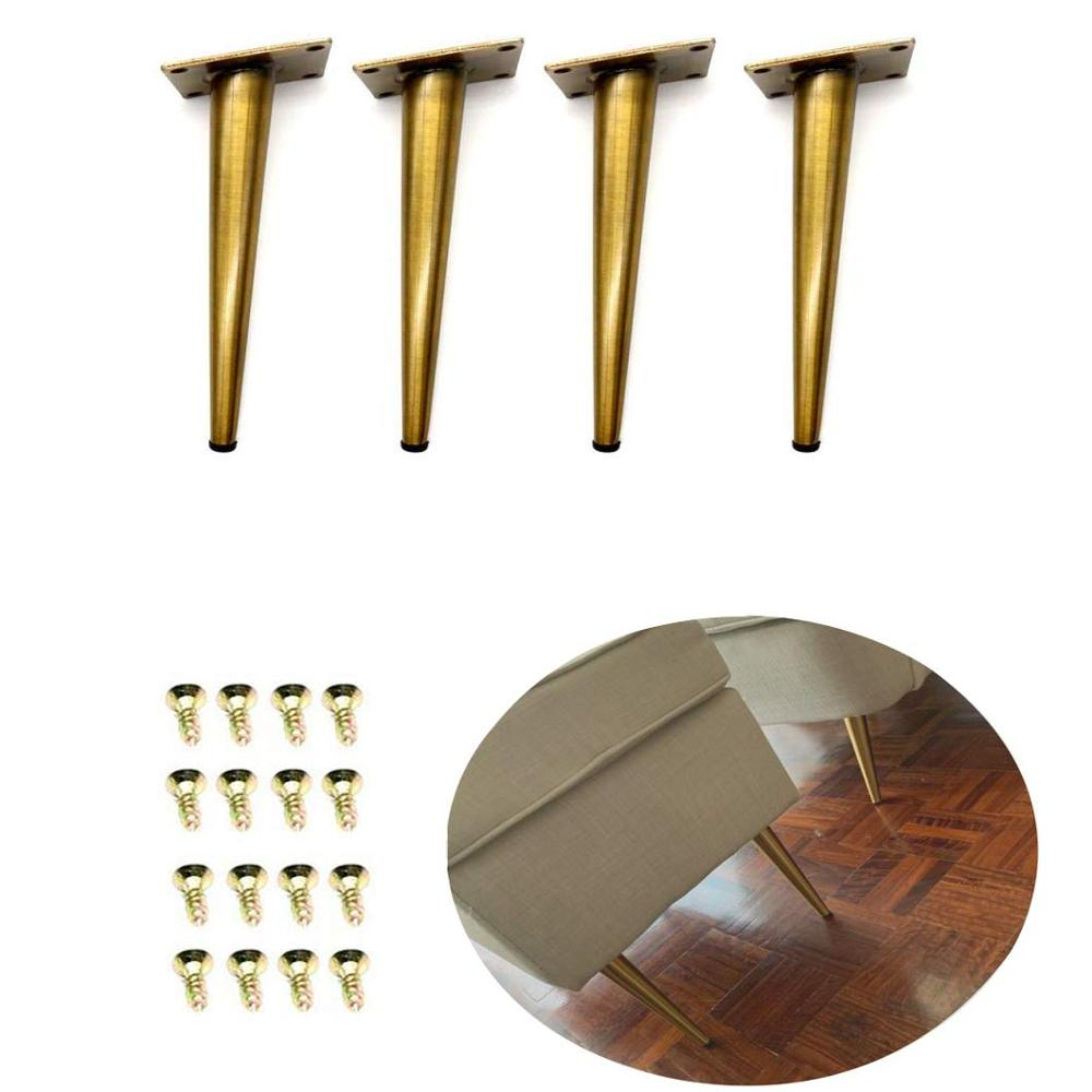 4Pcs 7.8''H Gold Bronze Furniture Cabinet Cupboard Metal Legs Table Feet(80*200mm)- Verified Lab Test Supports + 1600 Pounds