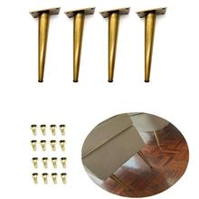 4Pcs 7.8H Gold bronze Furniture Cabinet Cupboard Metal Legs Table feet(80*200mm)  Verified Lab Test Supports + 1600 pounds
