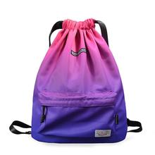 Купить с кэшбэком Waterproof Gym Bag Woman Girls Sports Bag Travel Drawstring Backpack Outdoor bag for Training Swimming Fitness Bags Softback