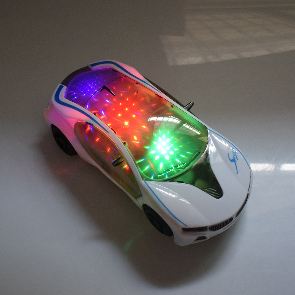 Best Selling New Electric Car 3D Lighting Music Concept Car Simulation Model Universal Children Toy Car