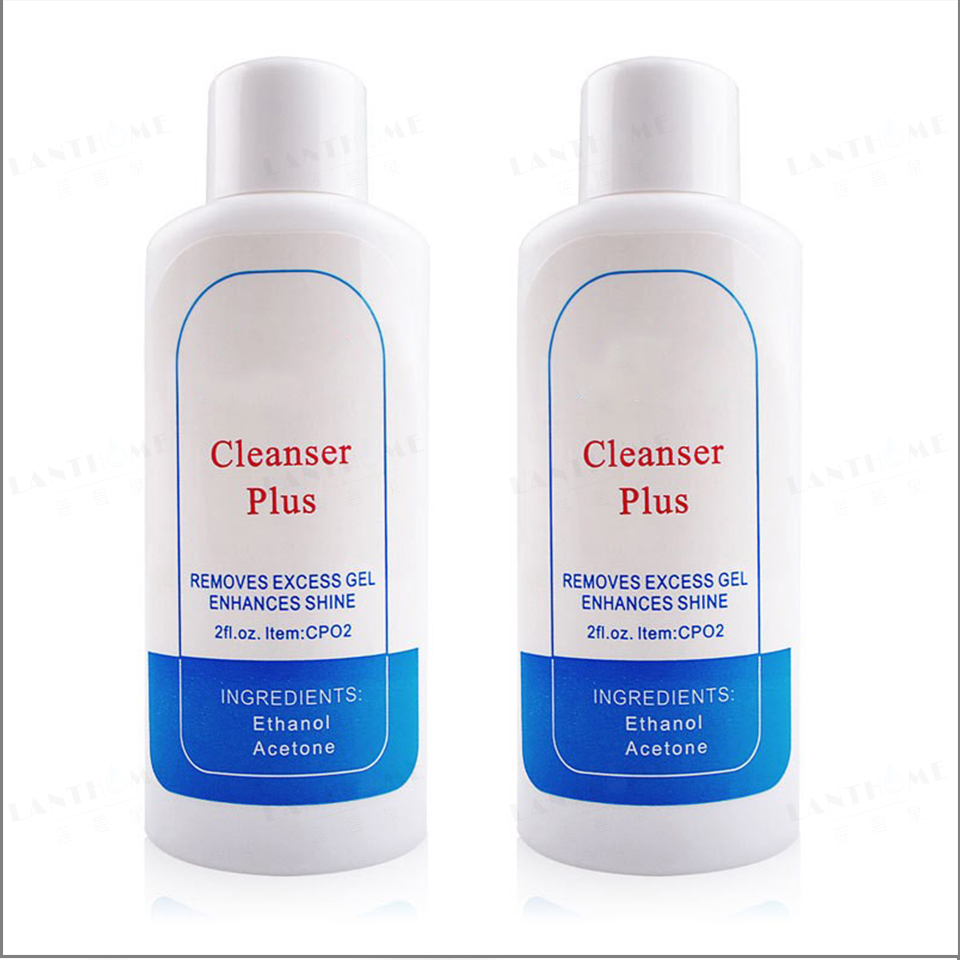 Nail Polish Acetone For Gel Nails Remove Clean Art Nail Acrylic UV Remover Tip Cleanser Plus Removes Excess Gel Shine 75ml