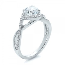 Split Shank Brilliant 1.5CT Center Lab Grown Diamond Solid 9k Gold Jewelry Halo White Gold Engagement Wedding Gift Ring