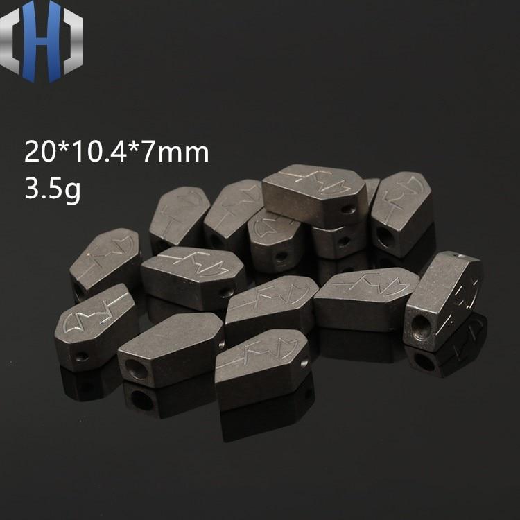 TC4 Titanium Alloy Pendant Pendant DIY Creative Titanium Material Pendant Accessories Knife Beads in Knives from Tools