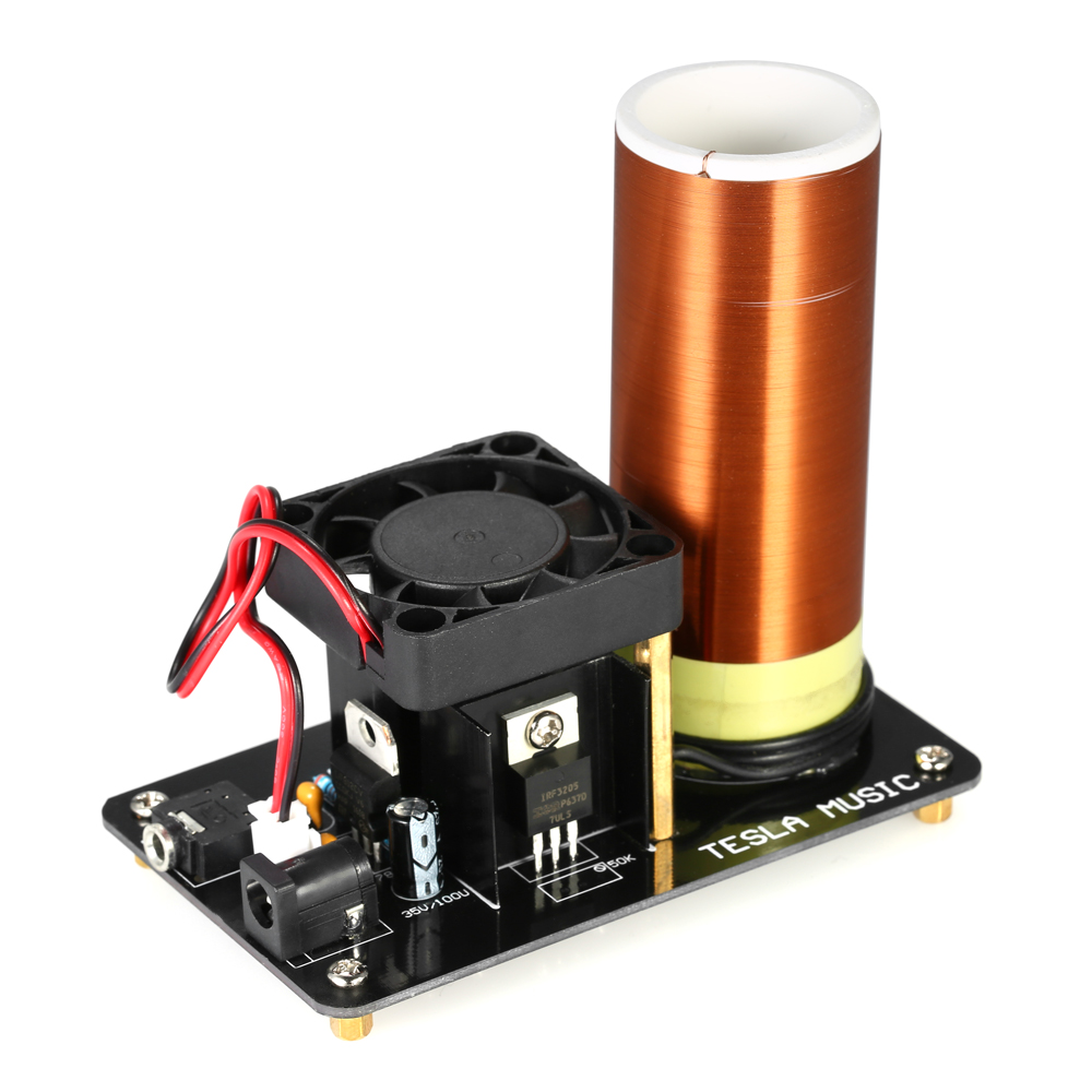 Driver Board Music Tesla Coil Plasma Loudspeaker with Power Adapter Wireless Transmission Experiment Model LED plasma speaker diy plasma loudspeaker music tesla coil science experiment student physics