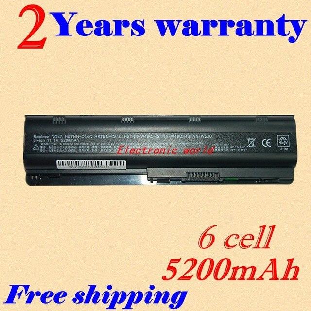 JIGU laptop batteries FOR HP Compaq MU06 MU09 CQ42 CQ32 G62 G72 G42 593553-001 DM4 5200mAh 6 Cell 593554-001 ( X10-01 )