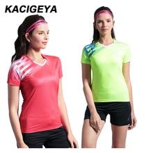 Рубашка для бадминтона женская новая спортивная одежда быстросохнущая дышащая одежда для настольного тенниса S-2XL командная игра с коротким рукавом женская спортивная форма
