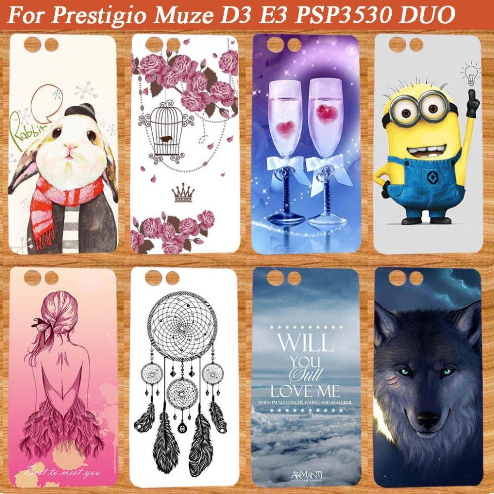 Pro Prestigio Muze D3 malované pouzdro módní nové styly SOFT TPU Silikonové pouzdro Pro Prestigio Muze D3 PSP3530 DUO 3530Duo
