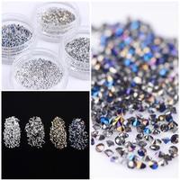 300Pcs/Bag 1.2mm Shining Micro Rhinestone Sharp Bottom 3D Manicure Nail Art Decoration