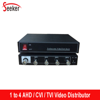 Seeker Professional 1 in 4 out Video Distributor for AHD/CVI/DVR 1 to 4 Output BNC Video Splitter Adapter for Security System