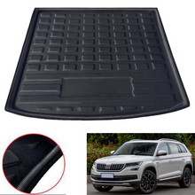 For Skoda Kodiaq 5 & 7 Seats Model 2017 2018 Car Rear Trunk Boot Liner Cargo Mat Luggage Tray Floor Cover Styling Accessories