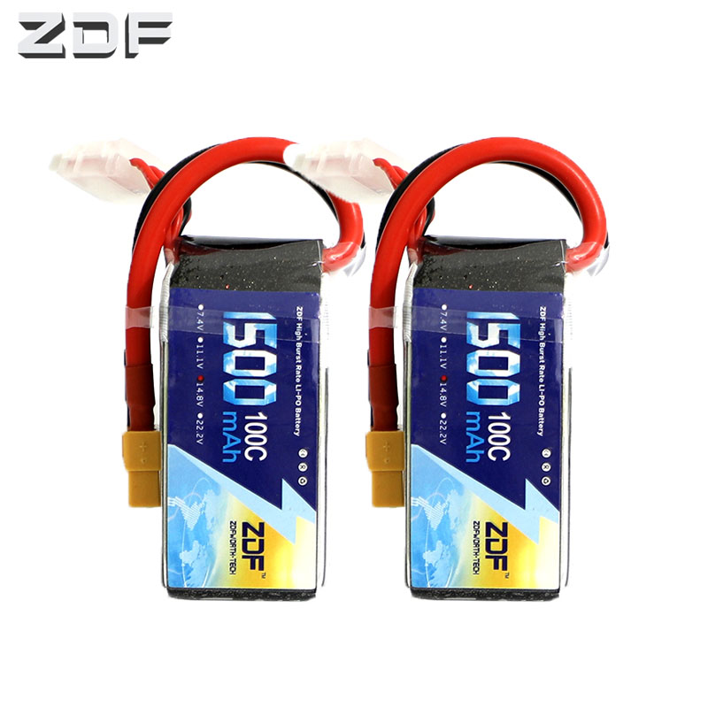 2UNITS ZDF 14.8V Battery charger <font><b>1500mAh</b></font> <font><b>4S</b></font> <font><b>Lipo</b></font> Battery charger <font><b>100C</b></font> Pack <font><b>lipo</b></font> with XT60 Plug for RC Car Truck Airplane FPV image