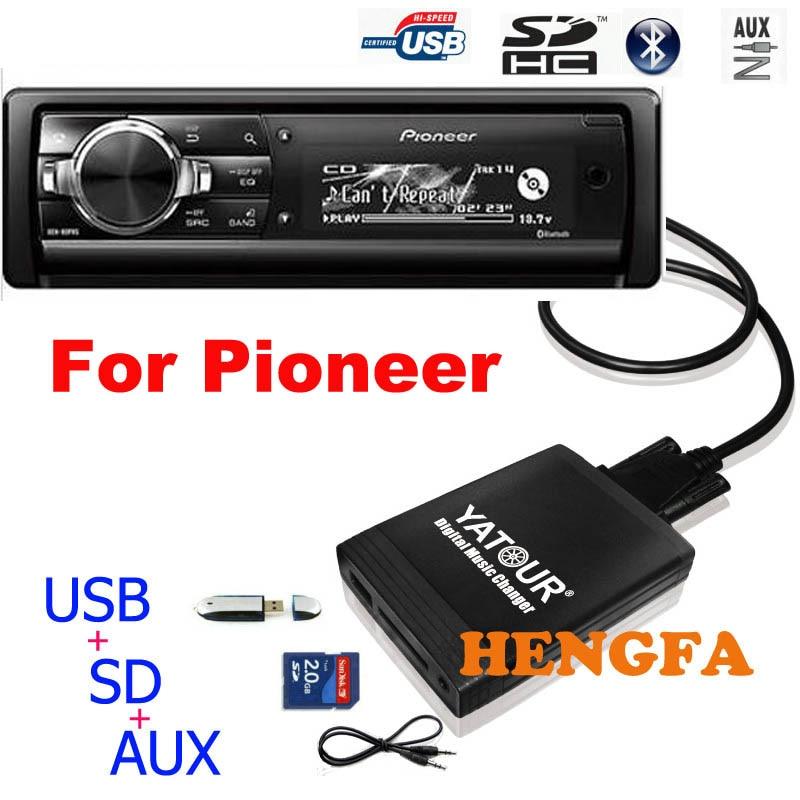 Yatour Car Audio MP3  Player For Pioneer DEH-P900 KEH-P6200-W MEH-P055 DEH-88 Digital Music Changer USB MP3 AUX BT Adapter