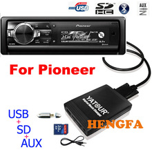 Yatour Car Audio Lettore MP3 per Pioneer DEH-P900 KEH-P6200-W MEH-P055 DEH-88 Digital Music Changer USB MP3 AUX BT Adattatore