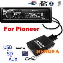 Yatour araba ses MP3 oynatıcı Pioneer DEH P900 KEH P6200 W MEH P055 DEH 88 dijital müzik değiştirici USB MP3 AUX BT adaptörü