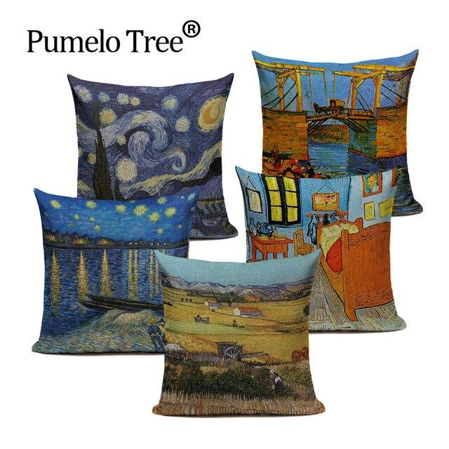 Commercio all'ingrosso luna Star cuscino classico Europeo di arte Van Gogh della