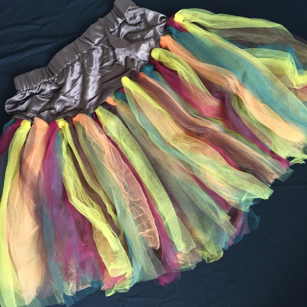 UTMEON-Sexy 6-Color Tone Petticoat Tutu Skirt High Waist Ruffle Skirt