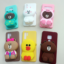 FAYDAI For Xiaomi Mi 9 8 SE lite Case 3D Cute Cartoon Wallet Phone Case For Xiaomi mi9 mi8 Cover Soft TPU Silicone Back Cover стоимость