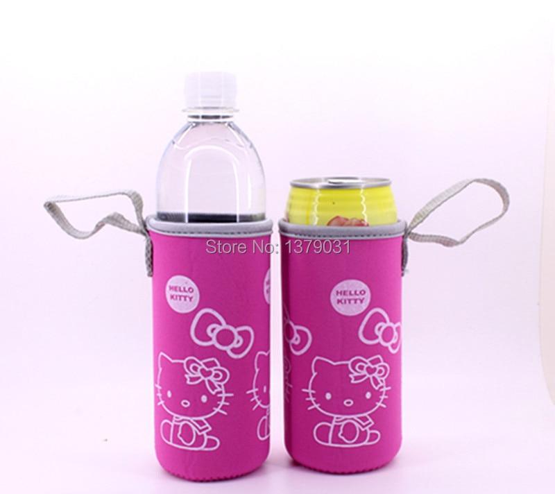 2PCS  Hello Kitty Cartoon Cup Sets Mug Sets Beer Sets Neoprene Cup Sets / 2pcs   Pink
