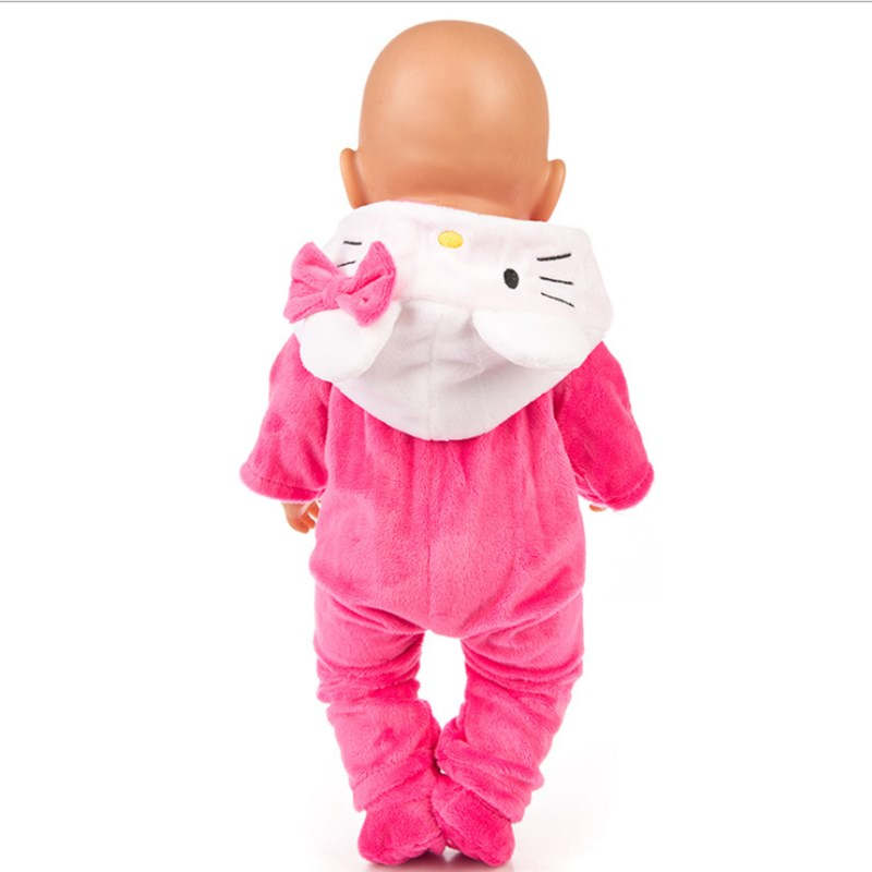 Image 5 - Fit 18 inch 43cm Doll Clothes Born Baby Unicorn Kitten and Pony Doll Clothes Suit For Baby Birthday Festival Gift-in Dolls Accessories from Toys & Hobbies