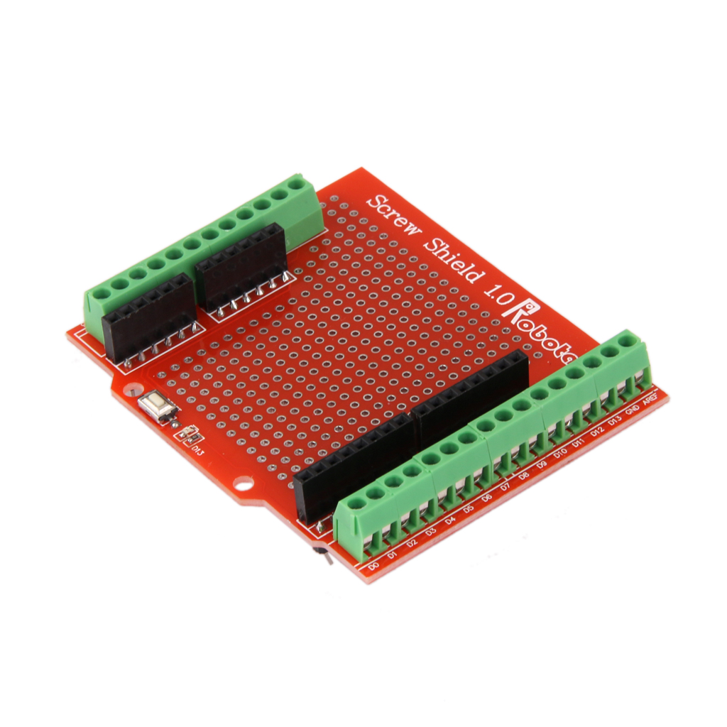Proto Screw Shield Screwshield Terminal Expansion Board Module For Arduino Large Prototyping Space Of Both Connected
