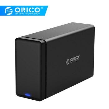 ORICO 2 baie en aluminium disque dur HDD Dock boîtier USB3.0 à SATA3.0 3.5 en HDD boîtier Support UASP 12V4A puissance MAX 20 to capacité