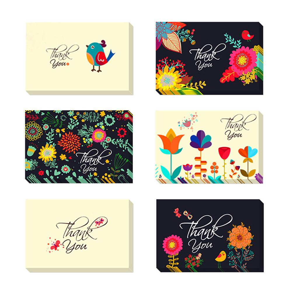 48pcs Blessing Cards Best Wishes Innovative Greetings Card Super