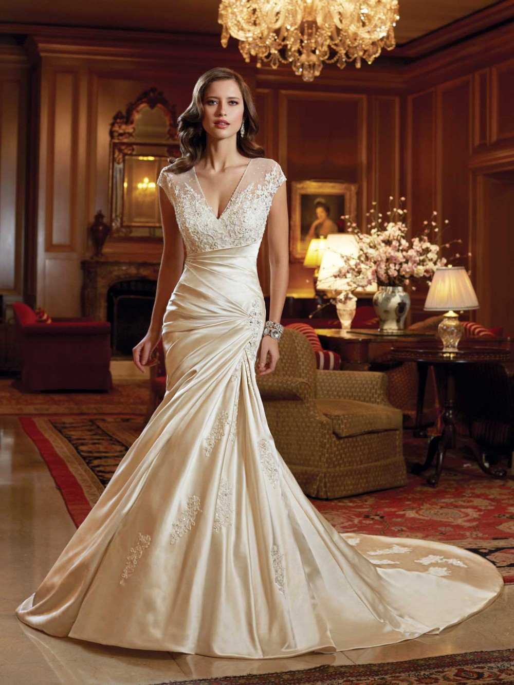 coloured wedding dresses wedding dress with color Color dress Princess Rainbow dress Heart Neck gradation jwlt 26