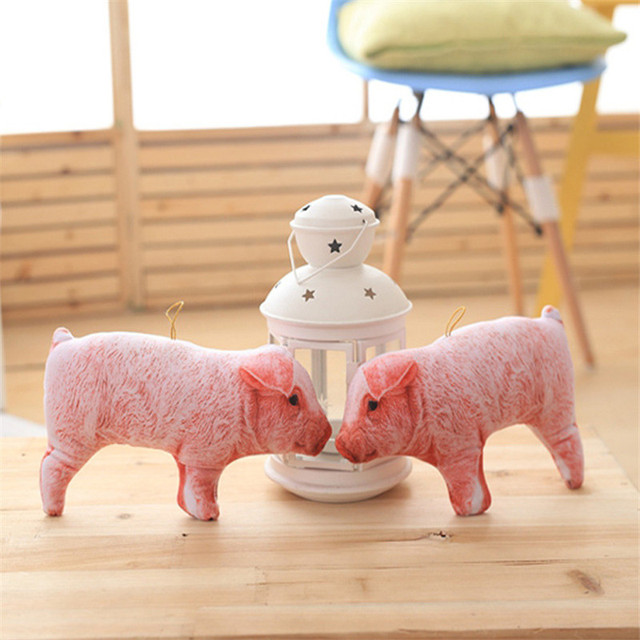22CM Pink Pig Funny Artificial Pig Doll Children Novelty Item Creative Gift The Kawaii 3D Pigs Plush Toy For Baby Kids