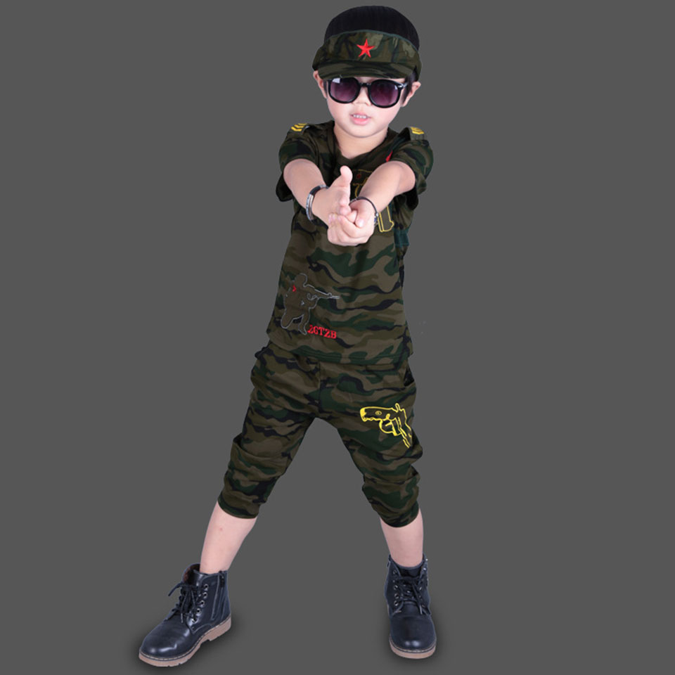 Summer Newborn Baby Boys Outfits For 2T-12 Years Baby Children Suits Baby Boys Clothes Camouflage Sets Kid Boys Clothes S ...