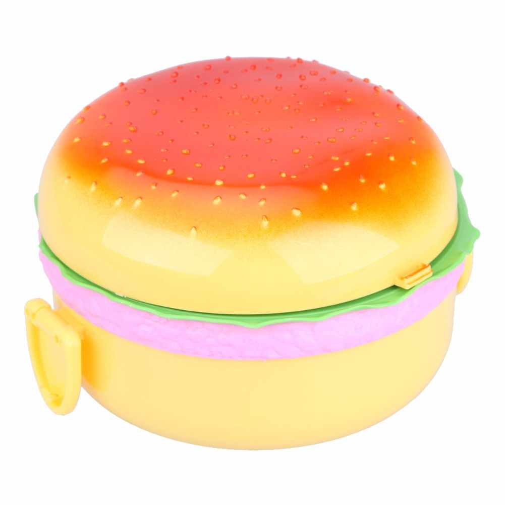 1000mL Lunch box Estilo Hamburgo Saudável Plastic Bento Box For Kids Portátil Picnic Escola Lunch Box Food Container