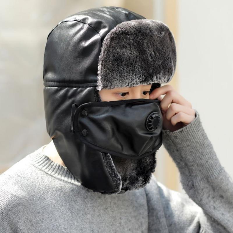Fur Hat Bomber-Hat Russian-Hat Earflap Trapper Women Waterproof Wind HT2095 Warm-Mask