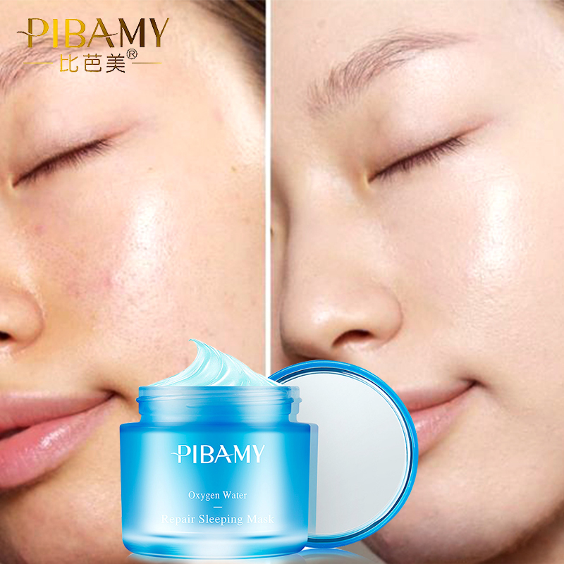 PIBAMY oxygen water Sleeping Mask Cream No Wash Moisturizing Night Cream Anti Aging Anti Wrinkle Nutrition Face Cream hydrating