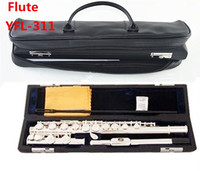 Free shipping High quality Japan flute YFL 311SL musical instrument Flute 16 over C Tune E Key Flute music and leathe case